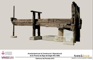 Premsa Segle XVI Vilafranca del Penedes preliminary project