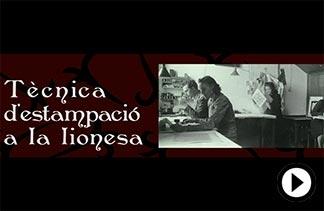 Tecnicà d'Estampació a la Lionesa video